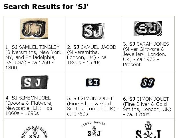 Hallmarks Gold Jewelry List