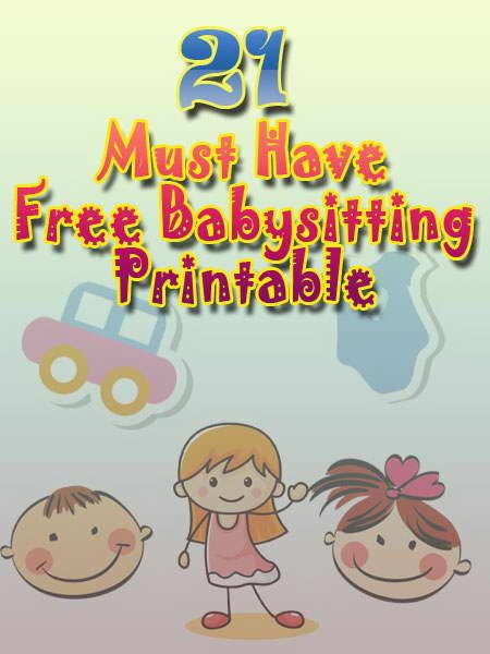 Collection Of Free Printable Babysitting Activities For