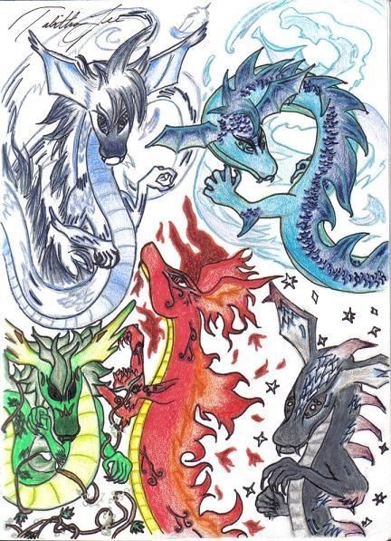 Air Fire Elements Water Earth Spirit Life Symbols