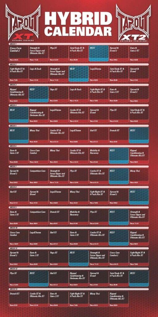 Tapout Xt Workout Calendar 2