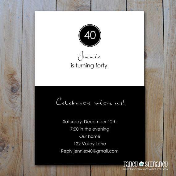Cheap 40th Invitations