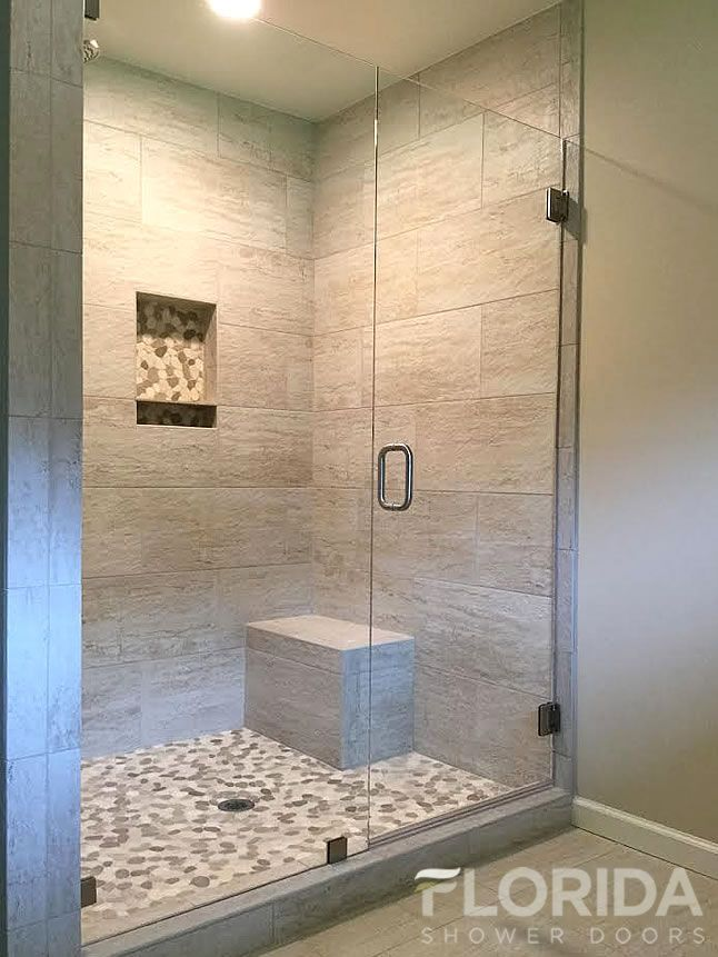 3 8 Inline Glass Shower Door And Panel Frameless With