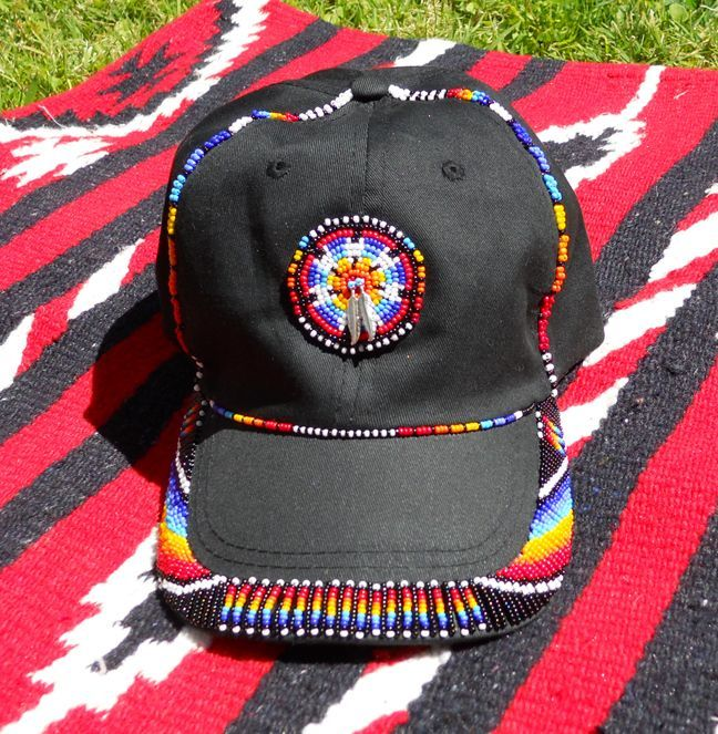 Native Graduation American Cap Beaded