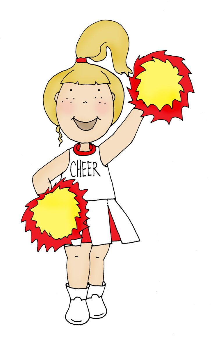 Cheerleader Art Cartoon Stuff Clip