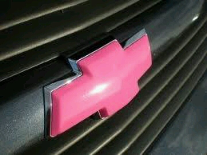 Chevy Pink Tie Bow Tahoe