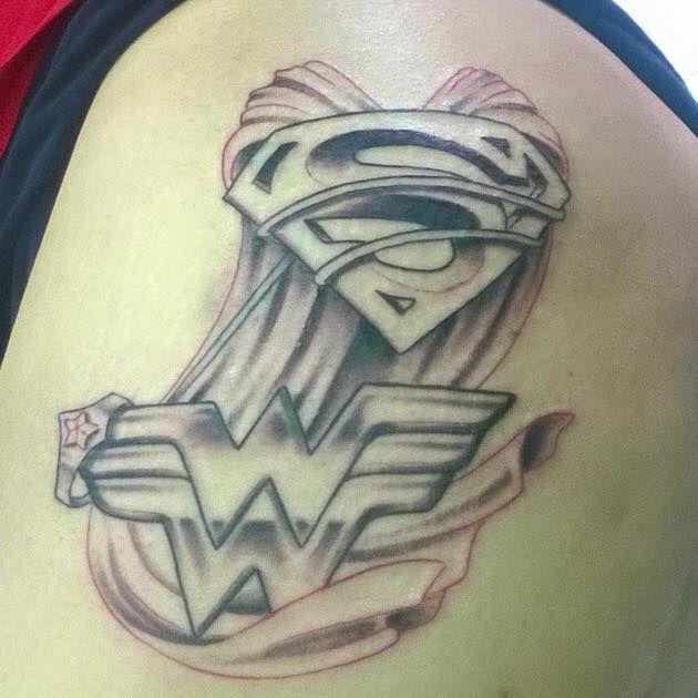Woman Tattoo Superman Logo Art Wonder