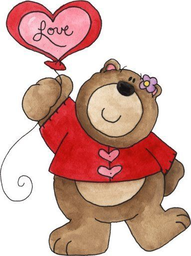 Day Teddy Valentines Cartoon Bear