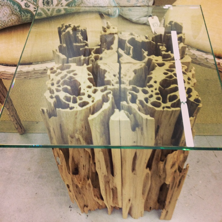 Glow Table Pecky Cypress
