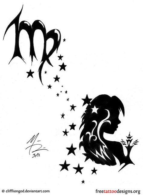 Feminine Scorpio Star Constellation Tattoo