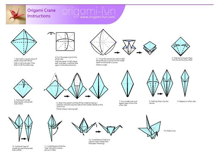 Diagram For Folding Origami Cranes
