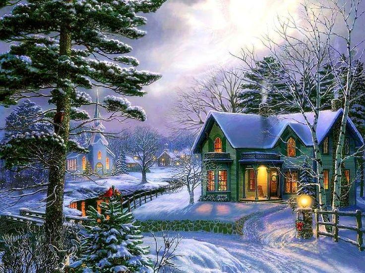 Beautiful Winter Scenes Snowman