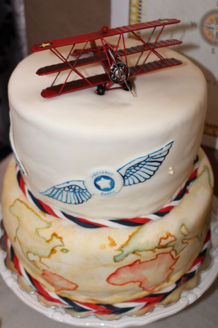 Vintage Plane Baby Shower Party Ideas Planes Cakes And