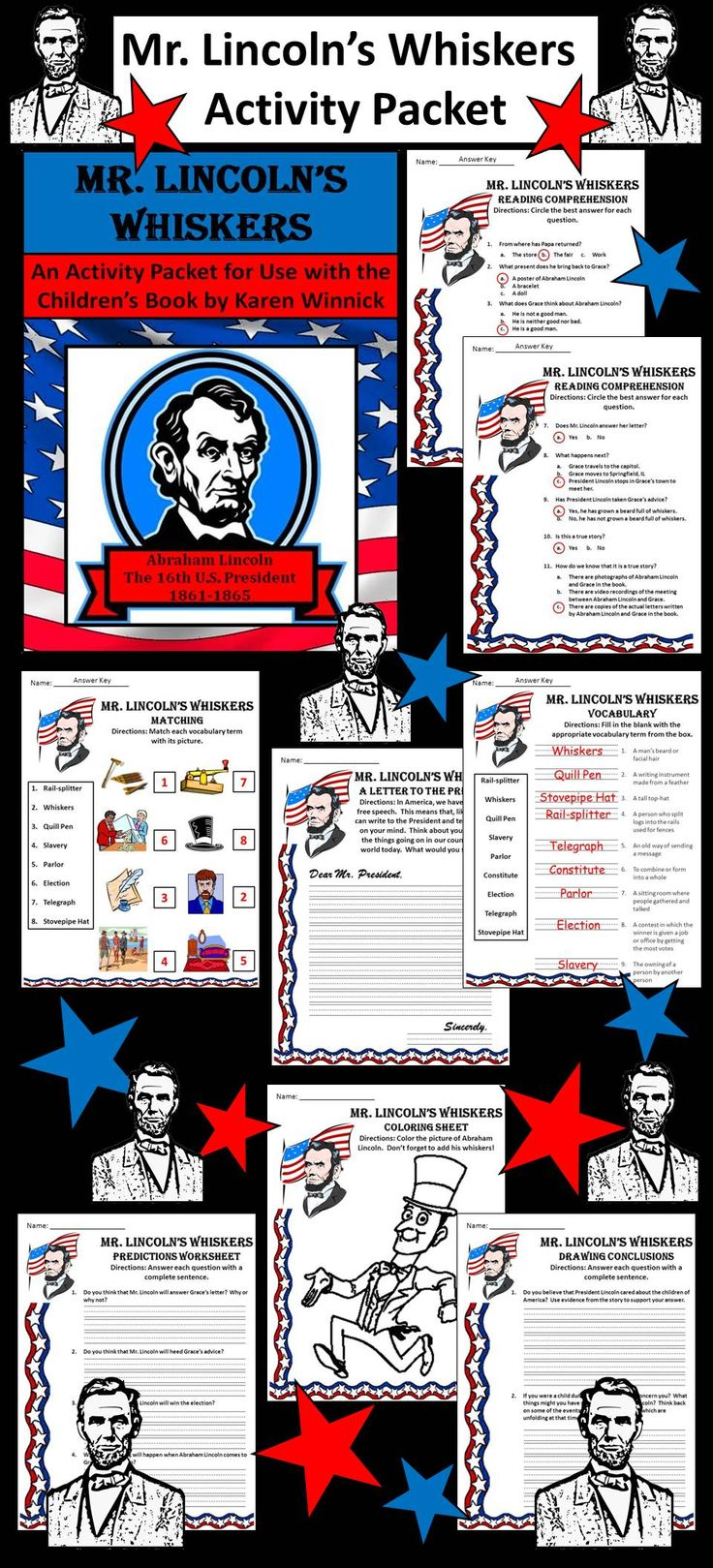 If I Was President Writing Drawing Sheet