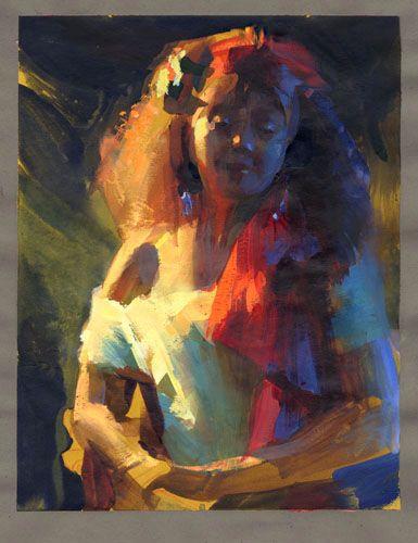 Portrait Drawing Lighting
