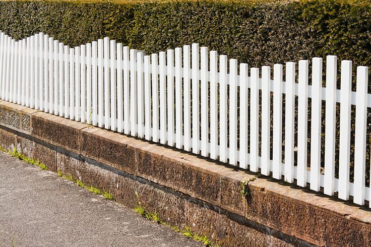 Landscaping White Fence