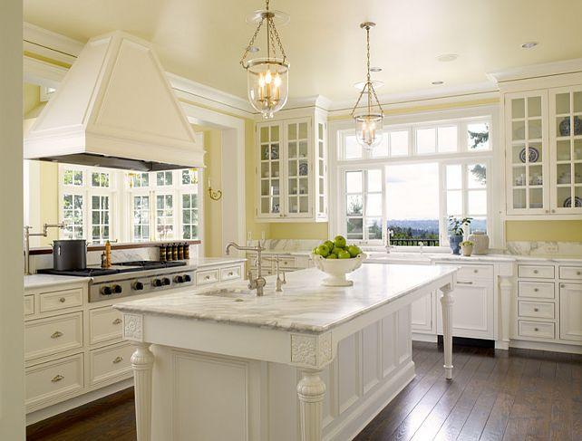 Kitchen Design Yellow And White