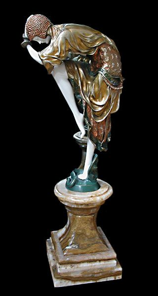 Base Marble Bronze D H Chiparus Ivory