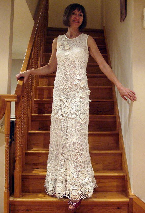 Unique Irish Crochet Wedding Dresses