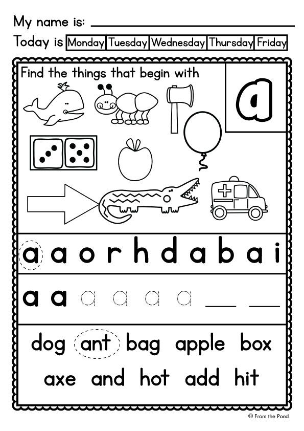 Alphafriends Worksheets