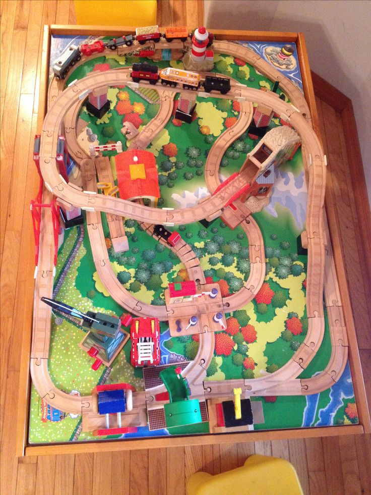 Wooden Train Track Layout Ideas