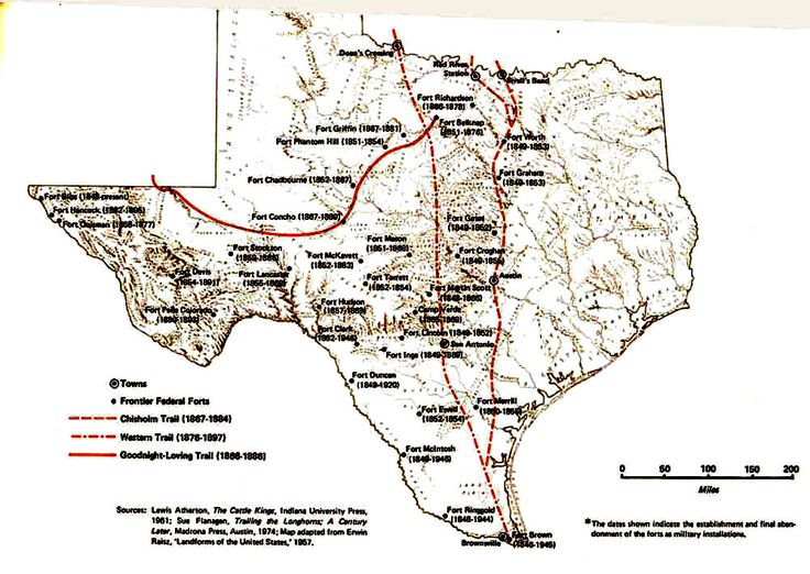 Map Major Livestock Texas