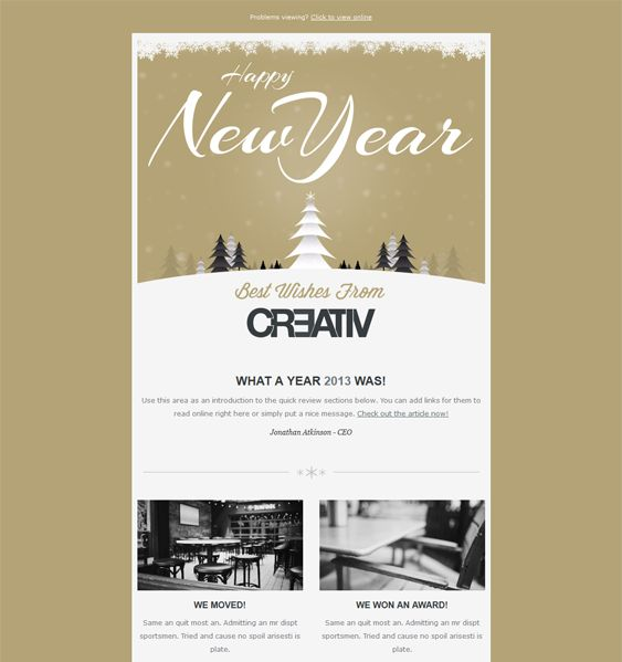 New Year Holidays Templates Mailchimp - Mailchimp holiday templates