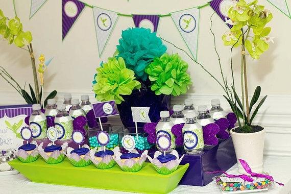 Neverland Tinkerbell Birthday Party Color Scheme Purple