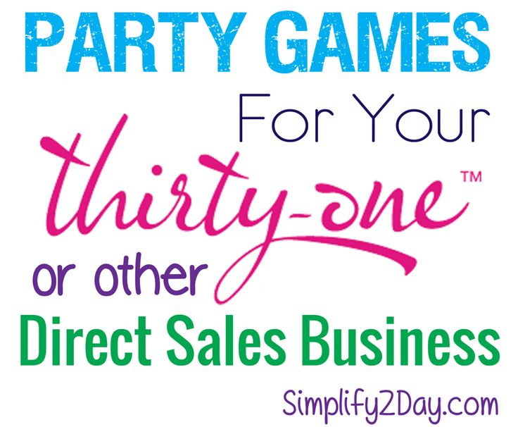 Game Ideas Home Party Sales