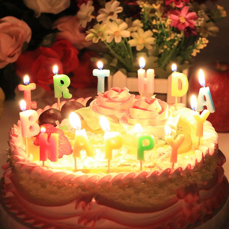 Happy Birthday Cake With Candles Birthday Cake