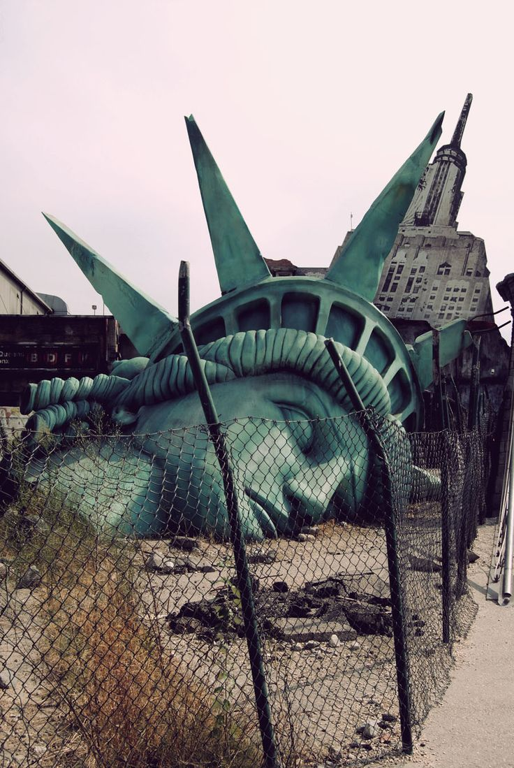 Destroyed Statue Liberty Head