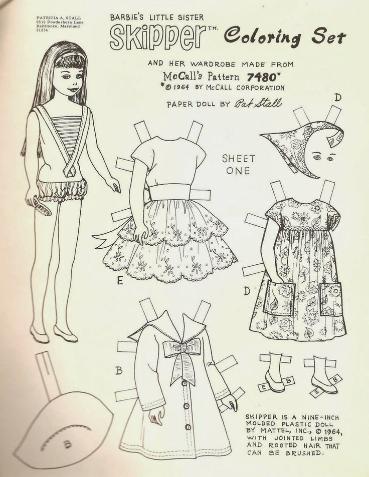 Outs Barbie Cut Doll Paper