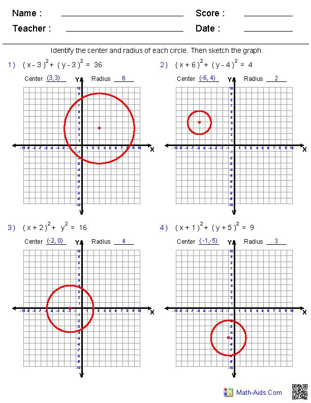 Math Aids Graphing Worksheets