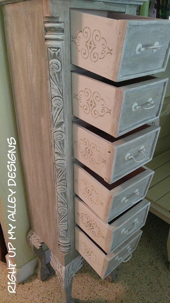 Tall Narrow White Dresser
