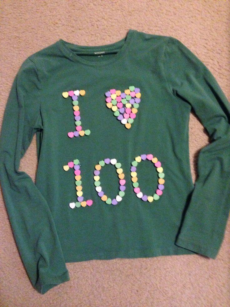 Day 100 Day School Ideas Shirt 100