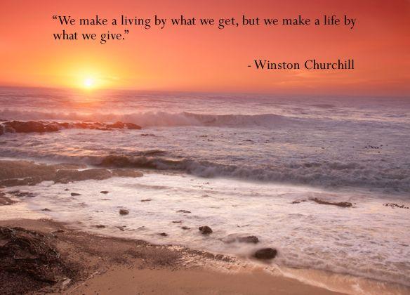 Winston Churchill We Make Living Christmas