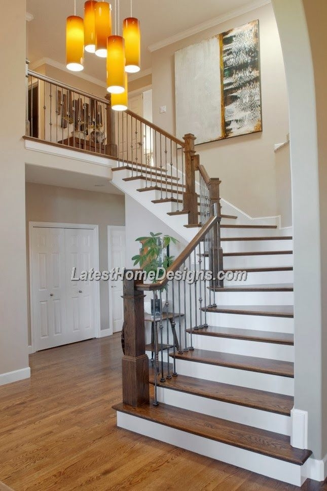 Beautiful Wood Stairs Design For Indian Duplex House | Interior Staircase Designs For Indian Homes