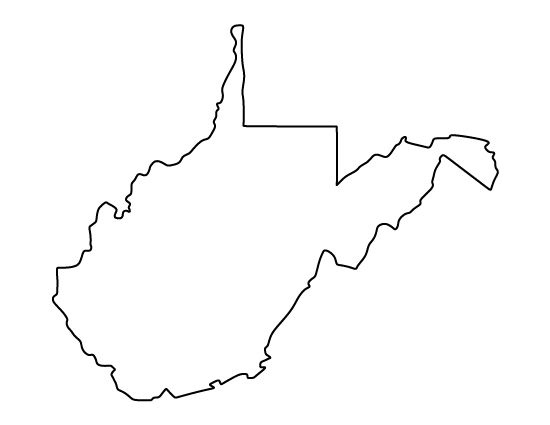West Virginia pattern. Use the printable outline for ...