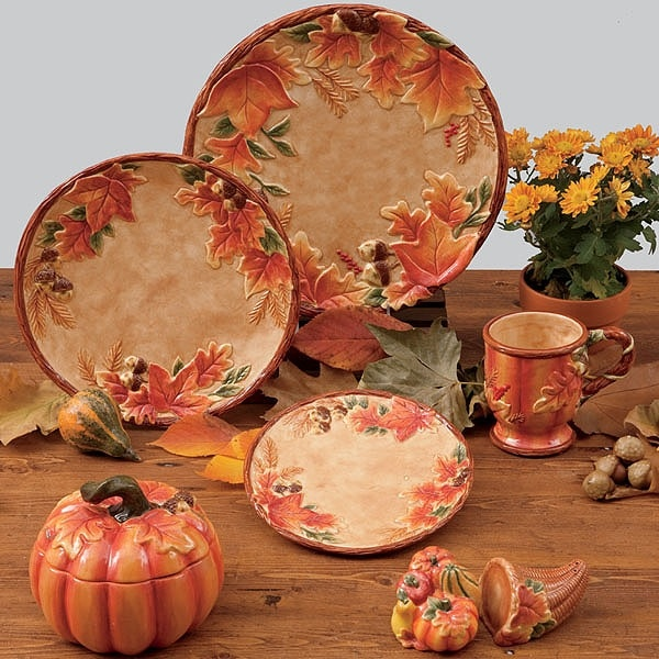 Harvest Blessings Covered Pumpkin Bowl 32 Oz By Susan