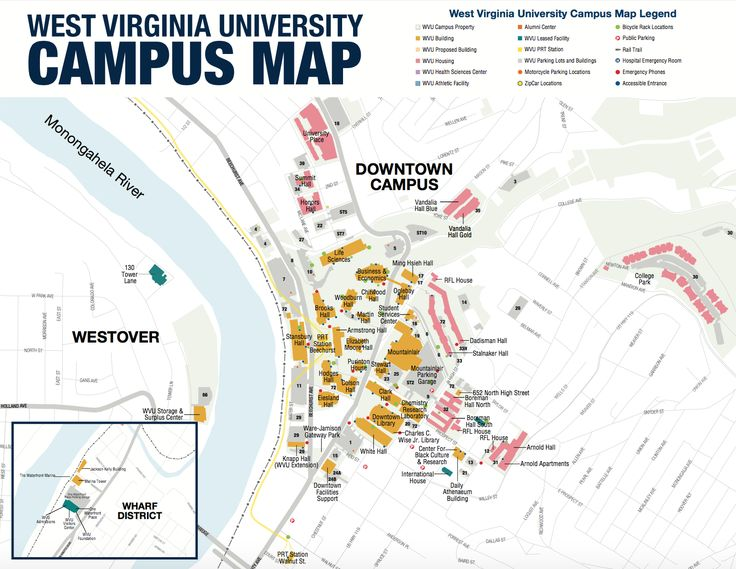 West Virginia Mountaineers Campus