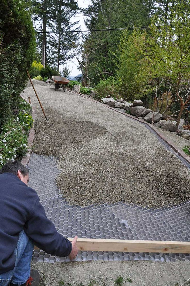 With The Core Systems Grid Foundation In Place Gravel Is
