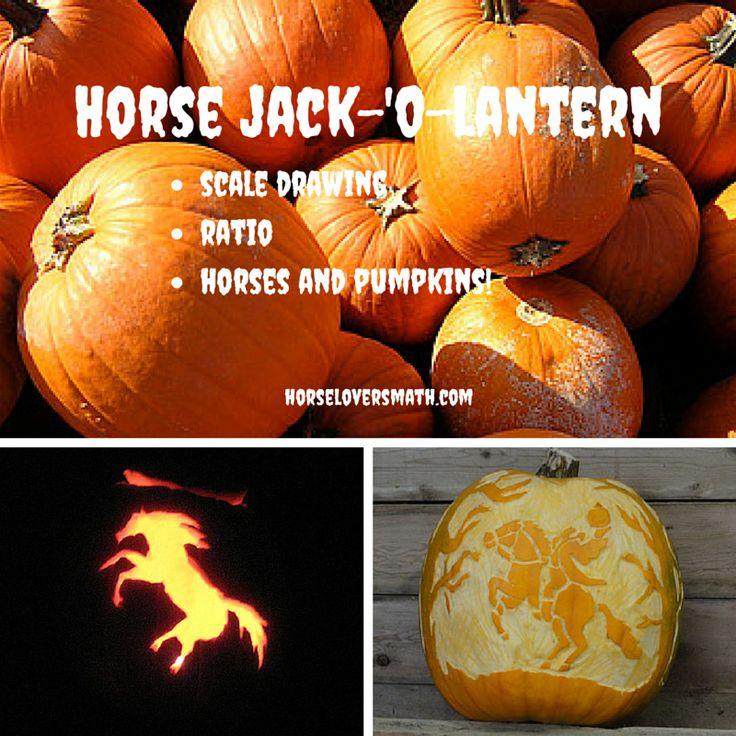 Horse Pumpkin Jack O Lantern Stencil