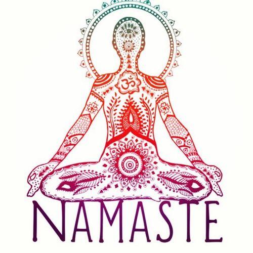life hippie draw good good vibes yoga Namaste iridescent ...