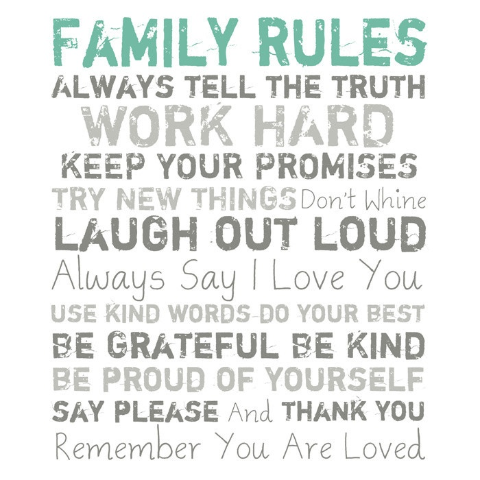 Family Rules Canvas Art | Quotes + Words | Pinterest ...