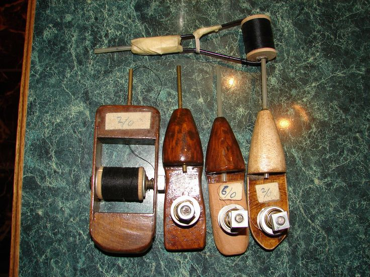 Vintage Fly Tying Tools And Supplies Wooden Bobbin Holders
