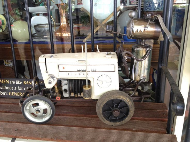 Sewing Antique Machine Made Tractor