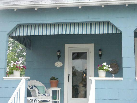 Outdoor Porch Decor Awings Valances By Front Door Decor