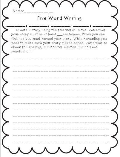 Third Grade Writing Examples