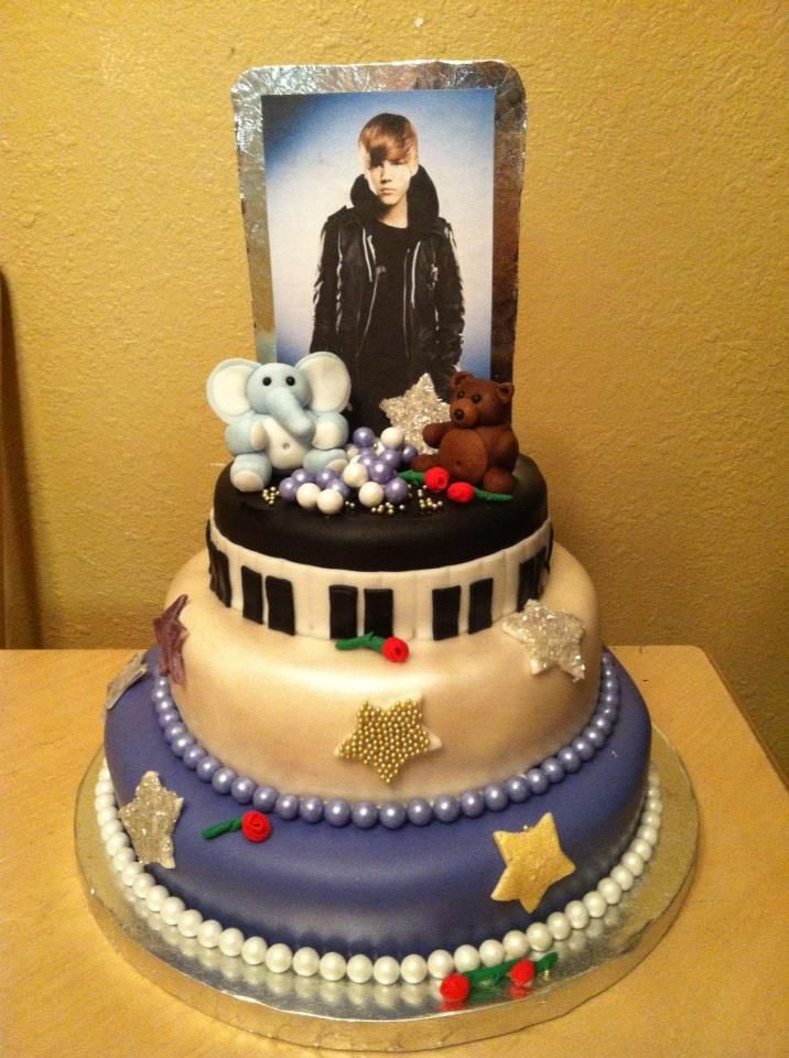 17 Best Images About Justin Bieber Cake On Pinterest