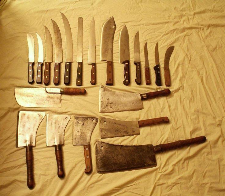 Knife Set Block Butcher