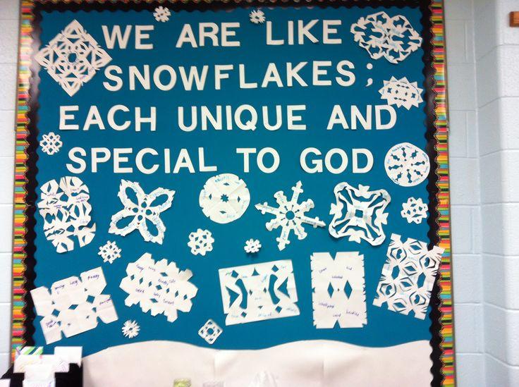 Like A Snowflake Bulletin Board Unique